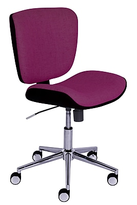 Serta Style Collection Haylie Fabric Office Chair, Fuchsia/Charcoal (CHR200027)
