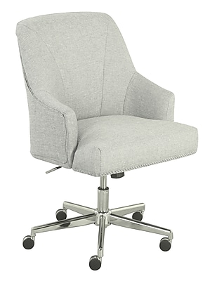 Serta Leighton Fabric Home Office Chair, Ivory (48444)