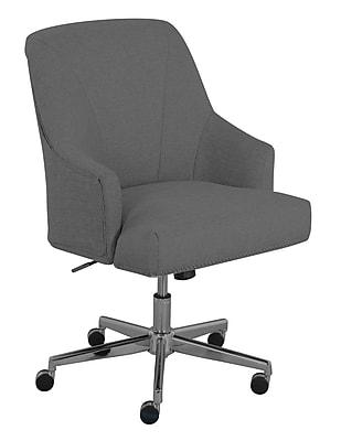 Serta Leighton Fabric Home Office Chair, Medium Gray (48445)