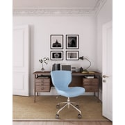 ELLE Decor Madeline Fabric Hourglass Task Chair, Pastel Blue