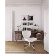 ELLE Decor Madeline Fabric Hourglass Task Chair, Cream (CHR200030)