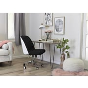 ELLE Decor Maia Fabric Two-Tone Task Chair, Charcoal/White (CHR200020)
