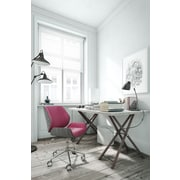 ELLE Decor Ophelia Bentwood Fabric Task Chair, Fuchsia (CHR200015)