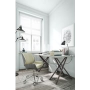 ELLE Decor Ophelia Bentwood Fabric Task Chair, Ivory (CHR200016)