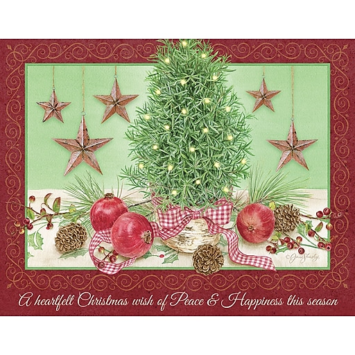 LANG ROSEMARY TREE BOXED CHRISTMAS CARDS (1004832) At Staples