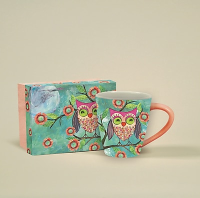 Lang Happy Owl Café Mug Ceramic, 17 oz Capacity (10992121022)