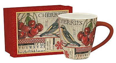 Lang Cherries Café Mug Ceramic, 17 oz Capacity (10992121040)