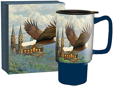 Lang Spiritual Eagle Travel Ceramic Mug, 18 oz Capacity (10992127027)