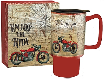 Lang Vintage Motorcycle Travel Ceramic Mug, 18 oz Capacity (10992127028)