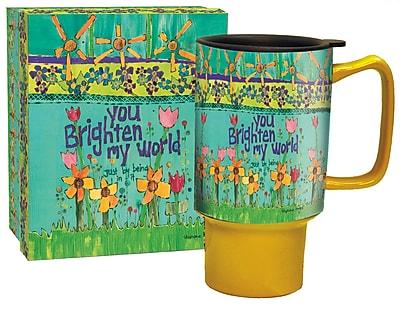 Lang Ceramic 18 oz Brighten My World Travel Mug (10992127029)