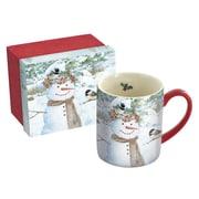 Lang Chickadee Snowman 14 oz Mug (10995021396)