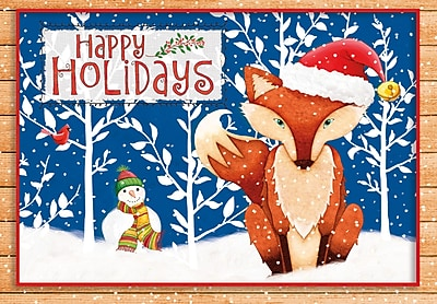 LANG HOLIDAY FOX PETITE CHRISTMAS CARDS (2004531)
