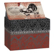 Lang Cardinal Rooster Recipe Card Box (2011092)