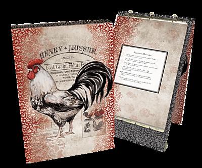 Lang Cardinal Rooster Vertical Recipe Card Album (2016009)