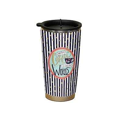 Lang Coffee Talk Traveler Mug 16 oz Capacity Acrylic outside (2118062)
