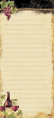 LANG GILDED WINE MINI LIST PAD (4005197)