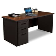 Marvel Pronto 66W x 30D Single Full Pedestal Desk, Mahogany, Dark Neutral (762805300678)