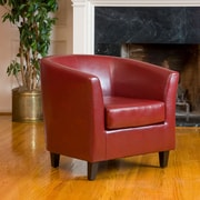 Noble House Florette Bonded Leather Club Chair Red Single (219877)