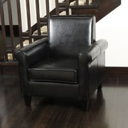 Noble House Ashley Bonded Leather Club Chair Black Single (218716)