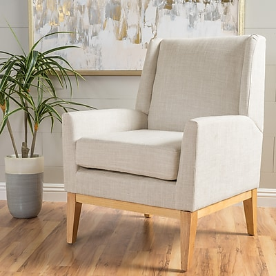 Noble House Andrea Fabric Side Chair Beige Single (299398)