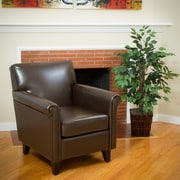 Noble House Sarai Bonded Leather Club Chair Brown Single (282092)