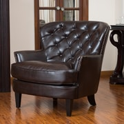 Noble House Audrey Bonded Leather Club Chair Brown Single (211347)