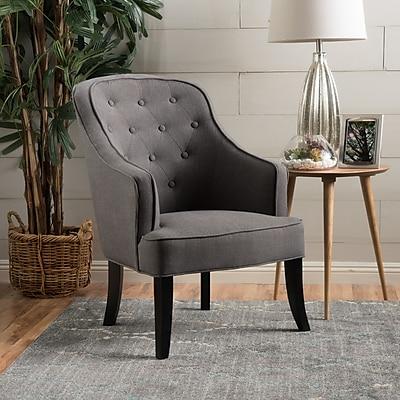 Noble House Novac Fabric Side Chair Charcoal Grey Single (218999)