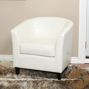 Noble House Florette Bonded Leather Club Chair White Single (206537)