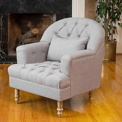 Noble House Caldwell Fabric Club Chair Grey Single (295002)