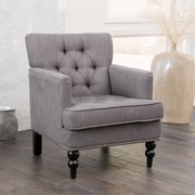 Noble House Brandon Linen Club Chair Charcoal Single (237357)