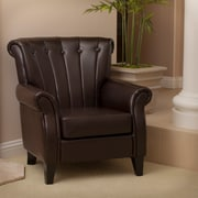 Noble House Kirbi Bonded Leather Club Chair Brown Single (230235)