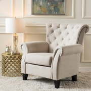 Noble House Estes Fabric Club Chair Light Beige Single (267737)