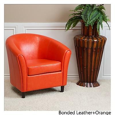 Noble House Cameron Bonded Leather Club Chair Orange Single (213807)