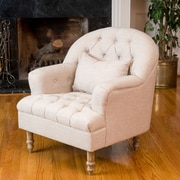 Noble House Caldwell Fabric Side Chair Beige Single (295003)