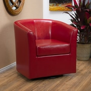 Noble House Poole Bonded Leather Club Chair Red Single (296640)