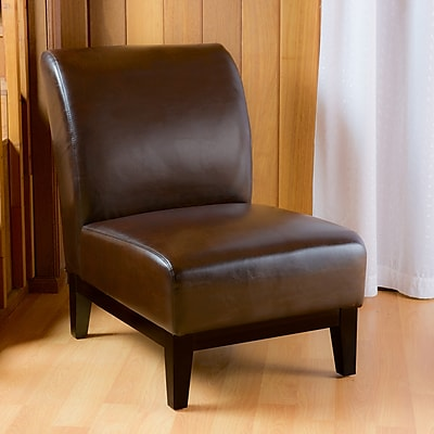 Noble House Sean Bonded Leather Side Chair Brown Single (238908)