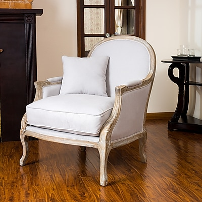 Noble House Baker Cotton, Linen Blend Arm Chair Natural Single (238615)