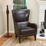 Noble House Dixon Bonded Leather Club Chair Brown Single (229675)