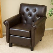 Noble House Smith Bonded Leather Club Chair Brown Single (238597)