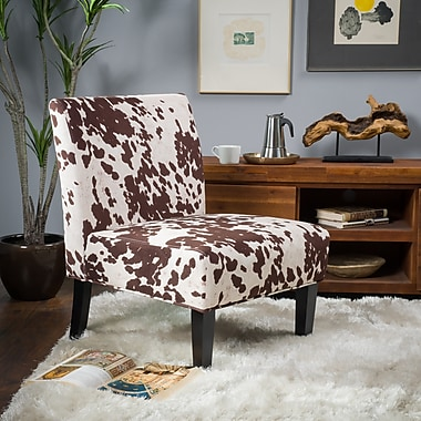 Noble House Hillary Fabric Dining Chair Milk Cow Single (297287)