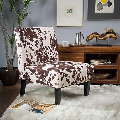 Noble House Hillary Fabric Dining Chair Milk Cow Single (297287)