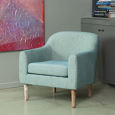 Noble House Sonia Fabric Side Chair Blue Green Single (295153)