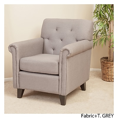 Noble House Smith Fabric Club Chair Grey Single (214488)
