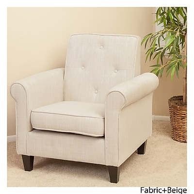 Noble House Springer Fabric Club Chair Beige Single (214526)