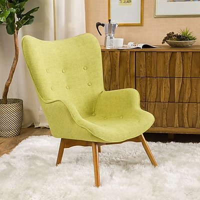 Noble House Barker Fabric Side Chair Muted Green Single (297015)