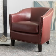 Noble House Roseanne Bonded Leather Club Chair Red Single (260816)