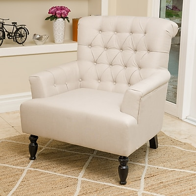 Noble House Kim Fabric Club Chair Beige Single (296903)