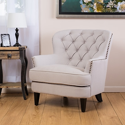 Noble House Audery Fabric Club Chair Natural Single (235060)