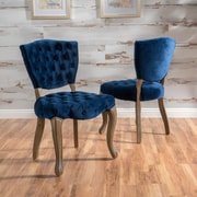 Noble House Galloway New Velvet Dining Chair Navy blue (Set of 2) (299874)