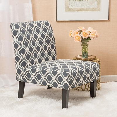 Noble House Hillary Fabric Dining Chair Blue and Navy Blue Single (297286)